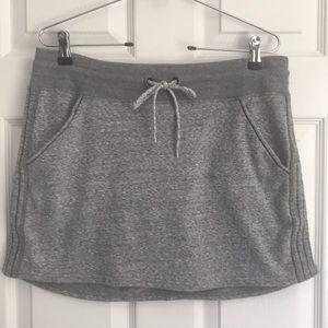 Athleta heather grey boho mini skirt